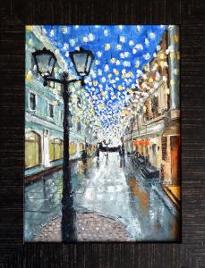 Картина маслом Москва, Столешников 35х25 см